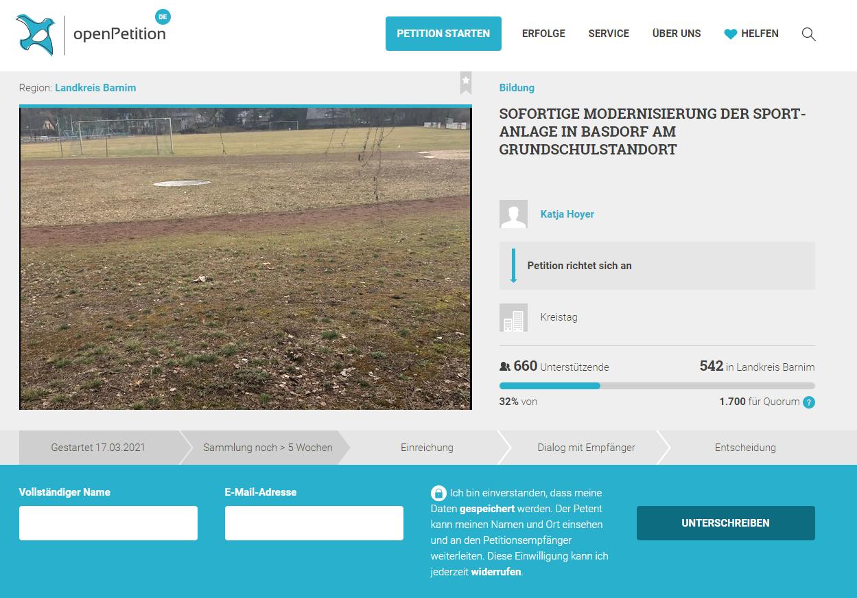 Petition_Sportanlage